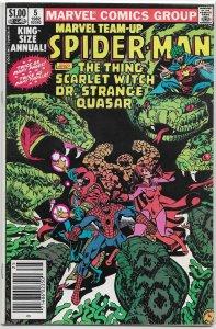 Marvel Team-Up vol. 1 Annual   #5 VF Thing, Dr. Strange, Gruenwald/Mooney