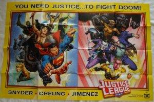 JUSTICE LEAGUE Promo Poster, 24 x 36, 2018, DC, BATMAN, SUPERMAN Unused 188