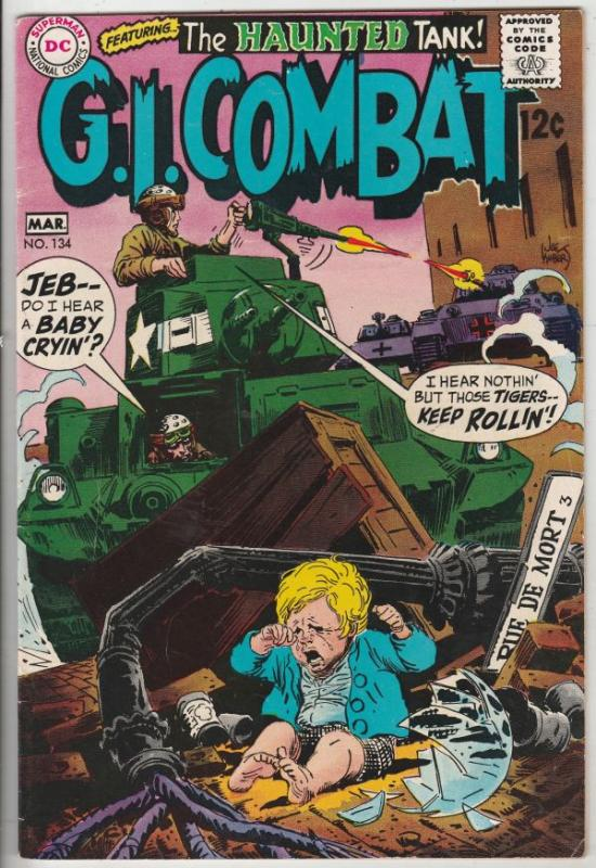 G.I. Combat #134 (Mar-69) VF/NM High-Grade The Haunted Tank