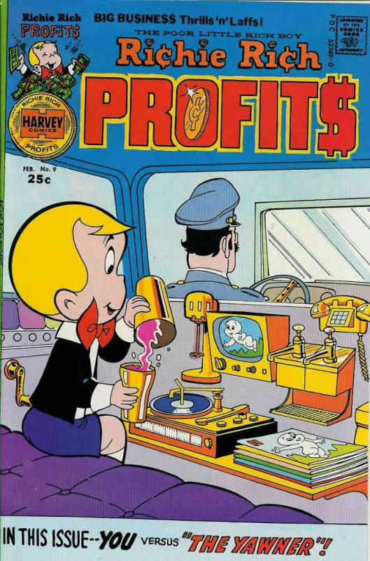 Richie Rich Profits #9 VG; Harvey | low grade comic - save on shipping - details