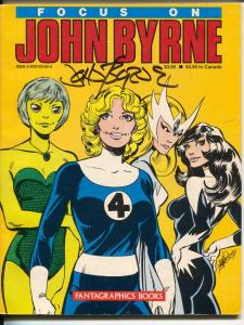 Focus On John Bryne 1984-autographed cover-Rog 2000-Fantastic Four-VF