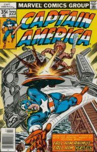Captain America (1st Series) #223 FN; Marvel | save on shipping - details inside