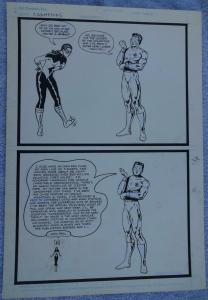 Original art, CHAMPIONS, Bragging rights, Ego maniac,DC Comics,Belittling, Trump
