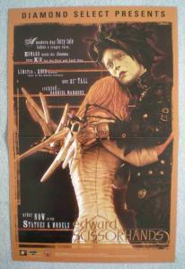 EDWARD SCISSORHANDS Promo poster, 11x17, 2003, Unused, Johnny Depp