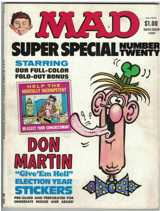 MAD SPECIAL (1976) 20 VG  DON MARTIN STICKERS