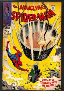 Amazing Spider-Man #61 VG 4.0 1st Gwen Stacy Cover! Marvel Comics Spiderman