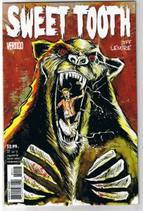 SWEET TOOTH #21, NM, Jeff Lemire, Horror, Vertigo, 2009, Endangered Species