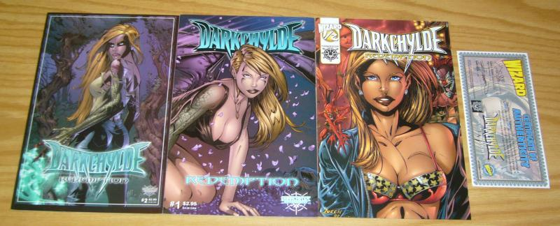 Darkchylde: Redemption #½ & 1-2 VF/NM complete series - randy queen bad girl set
