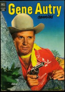 Gene Autry #66 1952- Dell Western- Photo cover VG