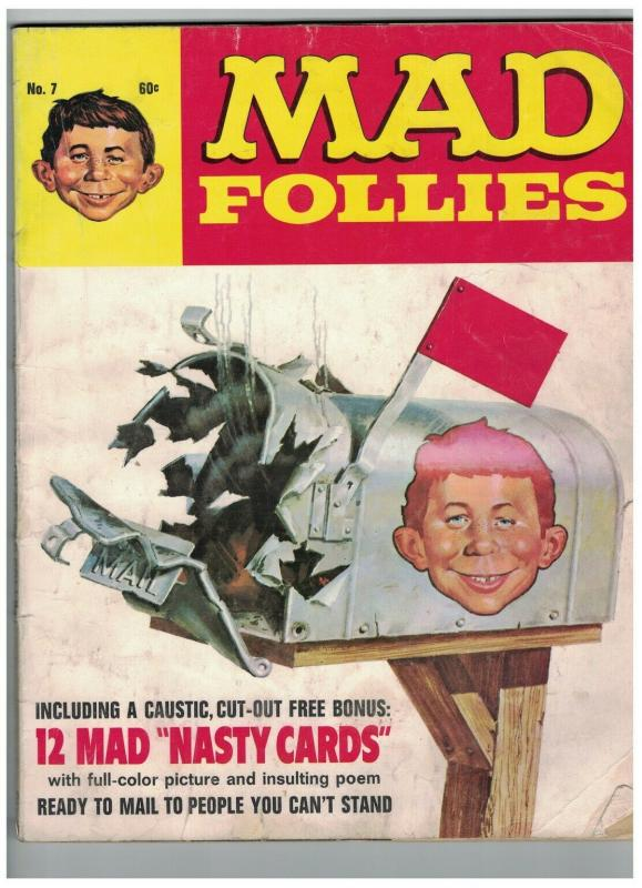 MAD FOLLIES (1969) 7 VG MINUS with NASTY CARDS