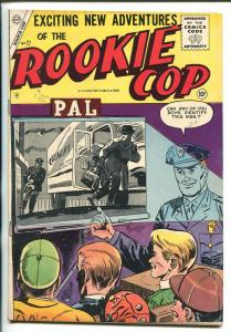 ROOKIE COP #27 1955-CHARLTON-1ST ISSUE-CRIME-fn/vf