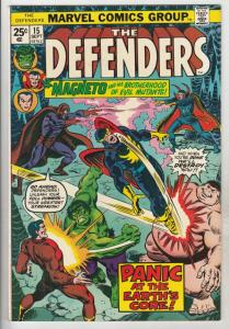 Defenders, The #15 (Sep-74) NM- High-Grade Hulk, Dr. Strange, Namor, Valkyrie...