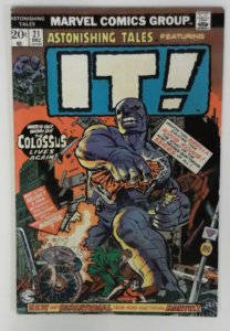ASTONISHING TALES 21 FN 1973 It! The Living Colossus Gil Kane Cover Marvel Comic