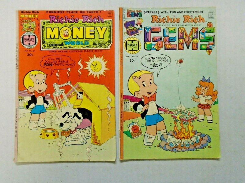 Bronze Age Harvey Richie Rich Comic Lot 26 Different 4.0 VG