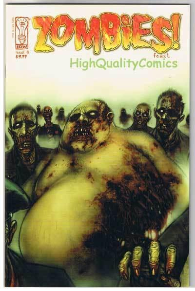 ZOMBIES FEAST #4, NM+, Horror,  IDW,  Walking Dead, 2006, more Zombies in store