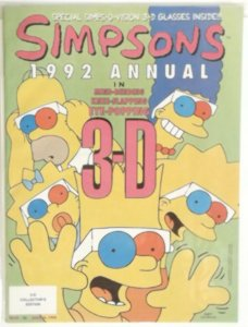 SIMPSONS 1992 ANNUAL in 3D -- With Glasses High Grade NM Collector's Edition