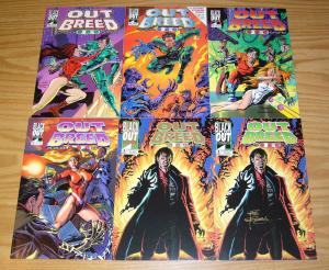 Outbreed 999 #1-5 VF/NM complete series + gold variant - dell barras - signed