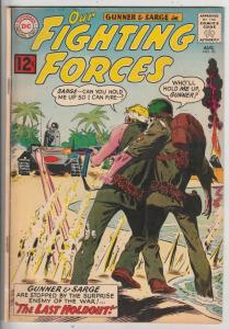 Our Fighting Forces #70 (Aug-62) FN/VF+ High-Grade Gunner and Sarge, Pooch