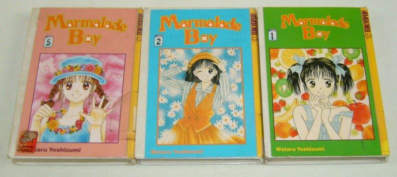 Marmalade Boy 1 2 5 tokyopop manga set - hardcovers - ex-library