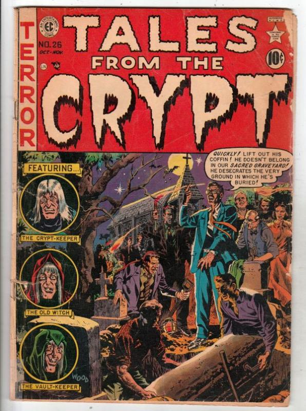 Tales from the Crypt #26 (Oct-51) FR/GD Affordable-Grade Crypt Keeper, Vault ...