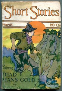 Short Stories Pulp March 1920- George Carlson cover- Dead Man's Gold G+
