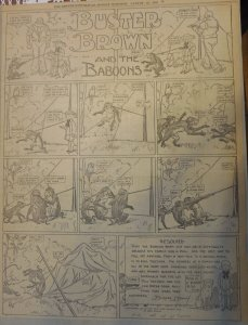 Buster Brown by RF Outcault from 8/22/1909 Full Size Page Black & White