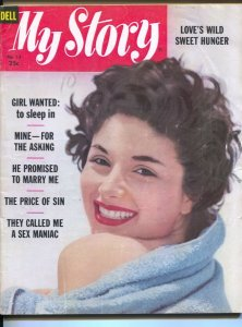 My Story #13 1958-Love's Wild Sweet Hungeremotional exploitation-spicy scan...