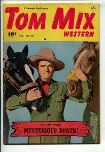 Tom Mix Western #34 1950-Fawcett-Photo cover -Carl Pfeufer story art-VG
