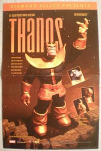 THANOS STATUE Promo poster, 11 x 17, 2003, Unused, more in our store