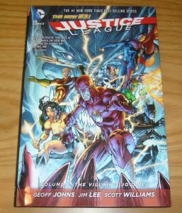 Justice League HC 2 VF/NM villain's journey - new 52 hardcover - jim lee johns