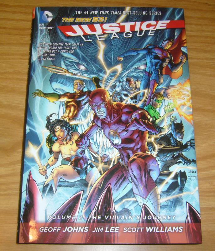 Justice League HC 2 VF/NM villain's journey - new 52 hardcover - jim lee johns