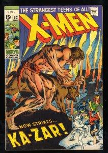 X-Men #62 VG/FN 5.0 Ka-Zar! Marvel Comics