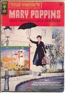 Mary Poppins 10136-501 1964-Gold Key-Julie Andrews-Dick Van Dyke-VG