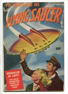 VIC TORRY AND HIS FLYING SAUCER-1950-FAWCETT-BOB POWELL STORY-ONLY ISSUE-vg/fn