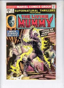 Supernatural Thrillers #11 (Feb-75) VF+ High-Grade The Mummy