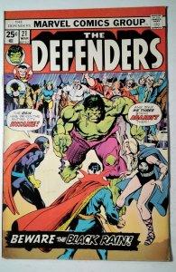 The Defenders #21 (1975) Marvel Comic Book J757