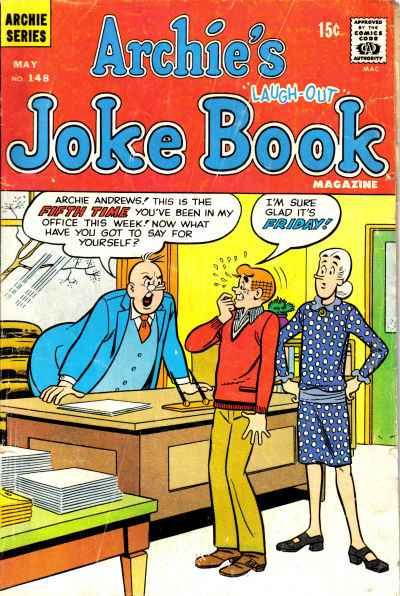 Archie's Joke Book Magazine #148, Fine- (Stock photo)