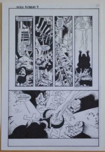 RICHARD CORBEN original art, ALIENS ALCHEMY #1 pg 9, Signed, 11x17, Incantation