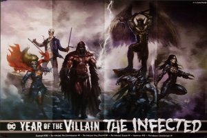 Year Of The Villain The Infected Folded Promo Poster (24x36) New! [FP57]