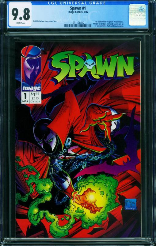 Spawn #1 CGC 9.8 White Pages- 1992-1st app 1991126012