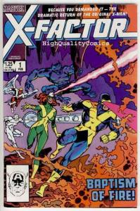 X-FACTOR #1, VF+, Bob Layton, Beast, Marvel Girl, Cyclops, 1986, more in store
