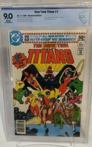 New Teen Titans #1 - CBCS 9.0 - NEWSSTAND Edition - WHITE PAGES