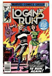 Logan's Run #6 comic book First solo THANOS story 1977 NM-
