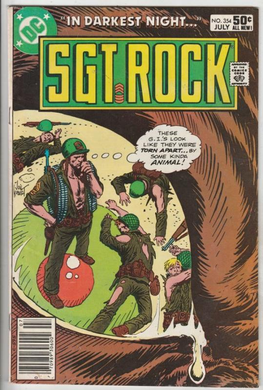 Sgt. Rock #354 (Jul-81) VF High-Grade Sgt. Rock, Easy Co.