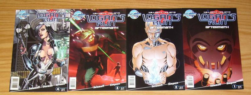 William F. Nolan's Logan's Run: Aftermath #1-4 VF/NM complete series 2 3 set lot