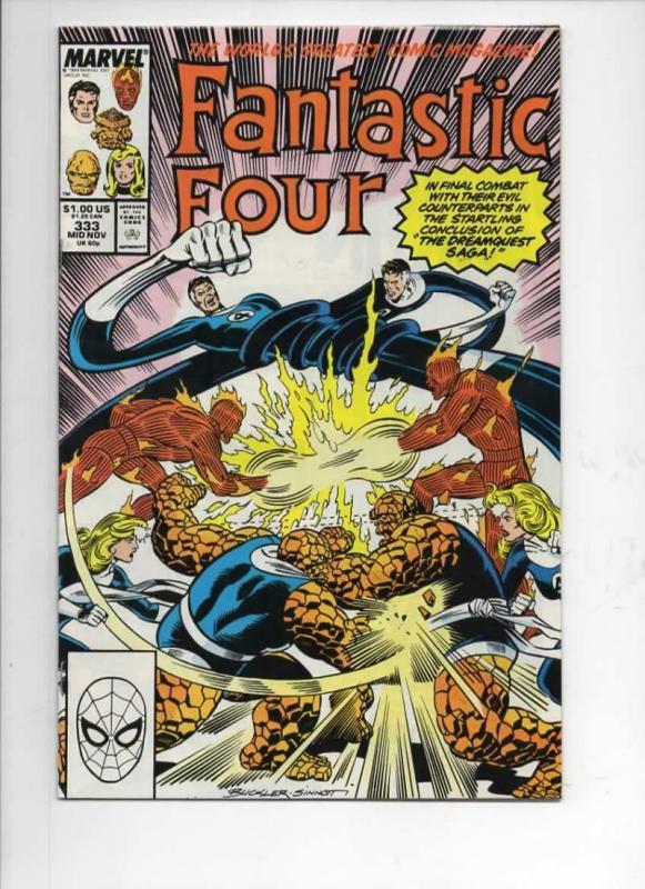 FANTASTIC FOUR #333 VF/NM Dr Strange, Thor, 1961 1989 Marvel, more FF in store