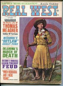 Real West 11/1967-Charlton-Annie Oakley-Buffalo Bill-Earl Norem-Villa VG