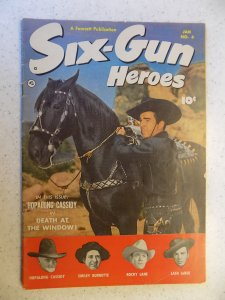 SIX-GUN HEROES # 6 GOLDEN AGE WESTERN HOPALONG LANE LARUE