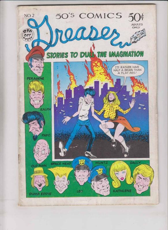 Greaser Comics #2 FN- (1st) george di caprio rip off press underground comix
