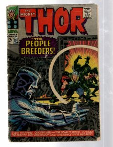 Mighty Thor # 134 GD Marvel Comic Book Loki Odin Asgard Sif Avengers Hulk RB8